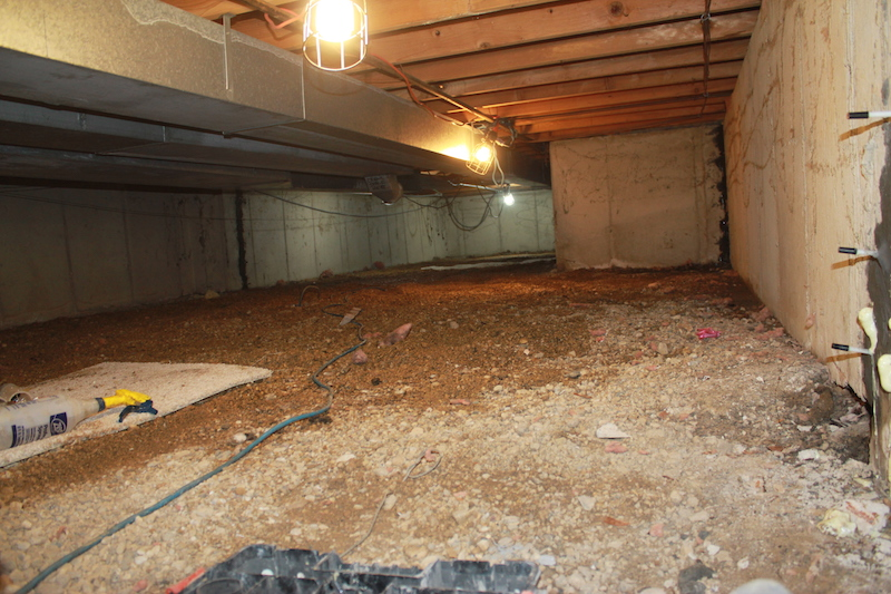 Crawlspace Before Nu-Crawl Space